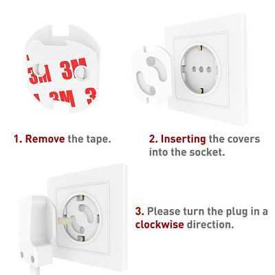 10 U Tapon enchufe protector electrico proteccion infantil seguridad EU blanco 4