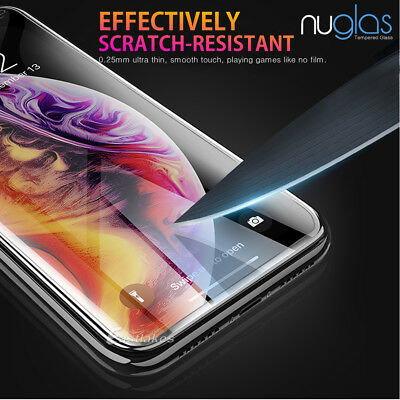 2x NUGLAS Tempered Glass Screen Protector Apple iPhone 11 XS Max XR 8 7 6s Plus 9