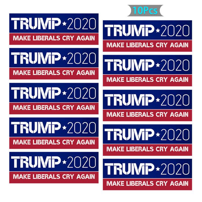 10PCS Donald Trump Bumper Sticker 2020 Make Liberals Cry Again Lot 6