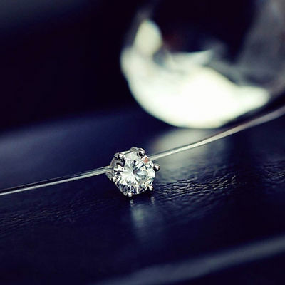 Fashion Crystal Necklace Invisible Line Zircon Clavicle Chain Women Accessories 10