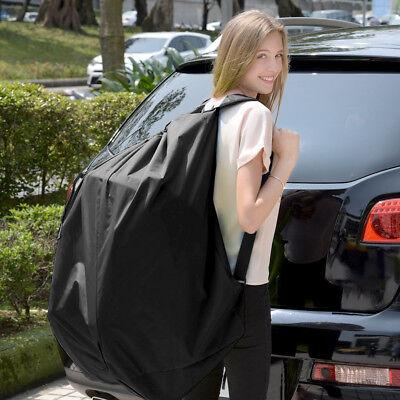 Portable Baby Children Car Safety Seat Travel Bag Dust Cover Stroller Bag Black 2