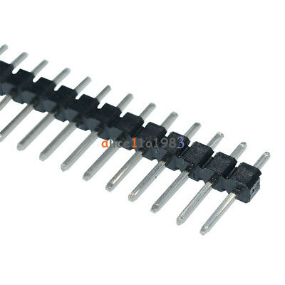 100PCS 40Pin 2.54mm Double Row Straight Male Pin Header Strip PBC Ardunio NEW