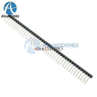 10pcs 40Pin 2.54mm Single Row Right Angle Pin Header Strip for Arduino kit N160