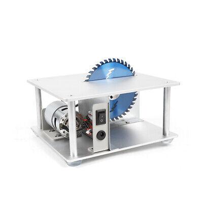 Mini Precision Table Saw DIY Woodworking Lathe Polisher Cutting Machine+3 blades 7