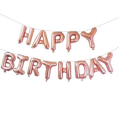 Rose Gold Alphabet Letter &Number Foil Balloons Personalised Birthday Party Name 4