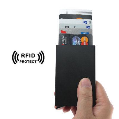 RFID Blocking Aluminum Slim Wallet ID Credit Card Holder Case Protector Purse OZ 5