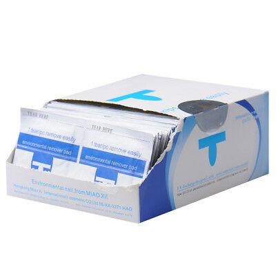 Professional Nail Polish Remover Soaked Wipes Uv Gel Soak Off Foil Wraps Acetone 3