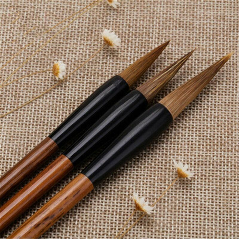 Traditional Chinese Calligraphy White Clouds Bamboo Wolf's Hair Writing Brush 6
