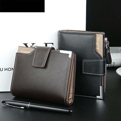 Men Leather Wallet ID Credit Card Holder Clutch Bifold Pocket Zipper Coin Purse 7
