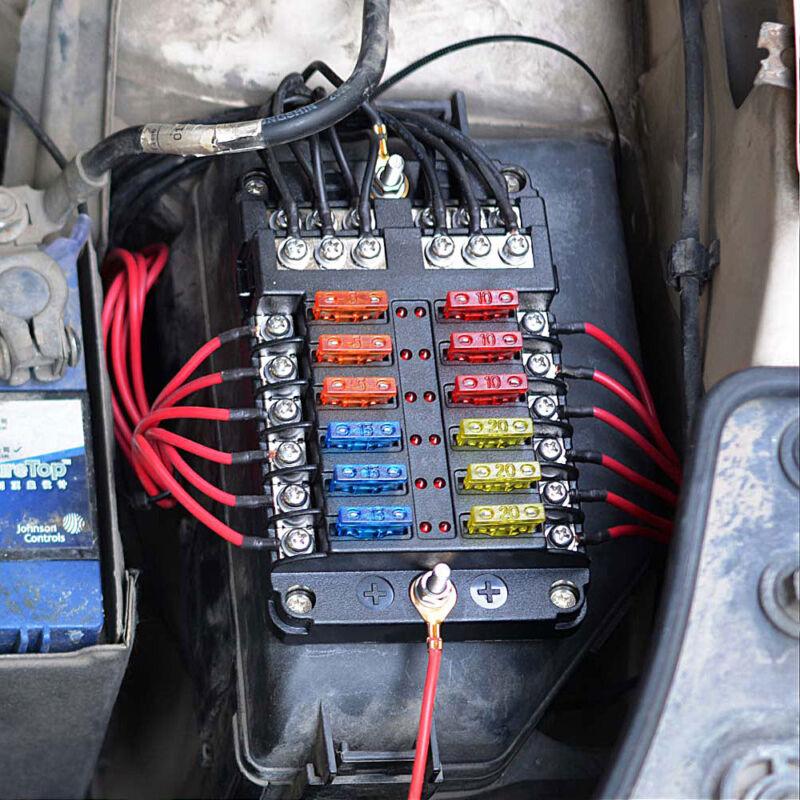 12 Vdc Car Fuse Box   Repair Manual Dc Fuse Block Wiring Diagram on
