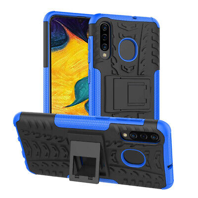 For Samsung Galaxy A20 A30 A50 A70 A10e Fiber Armor Slim Heavy Duty Case Cover 3