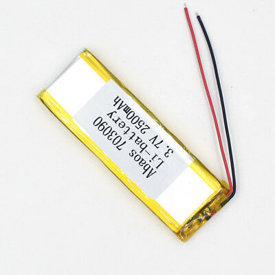 3.7V 2500mAh 703090 Li-Polymer Rechargeable Cell Li-ion LiPo Battery for GPS MP3 4