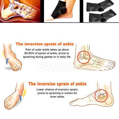 2 Pair Foot Sleeve Plantar Fasciitis Compression Socks Achy Swelling Heel Ankle 3