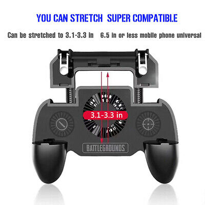 Mobile Phone Game Controller Joystick Cooling Fan Gamepad for PUBG Android IOS 5