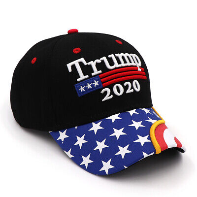 President  Donald Trump 2020 Hat Black USA Flag Make America Great Again Cap w7 6