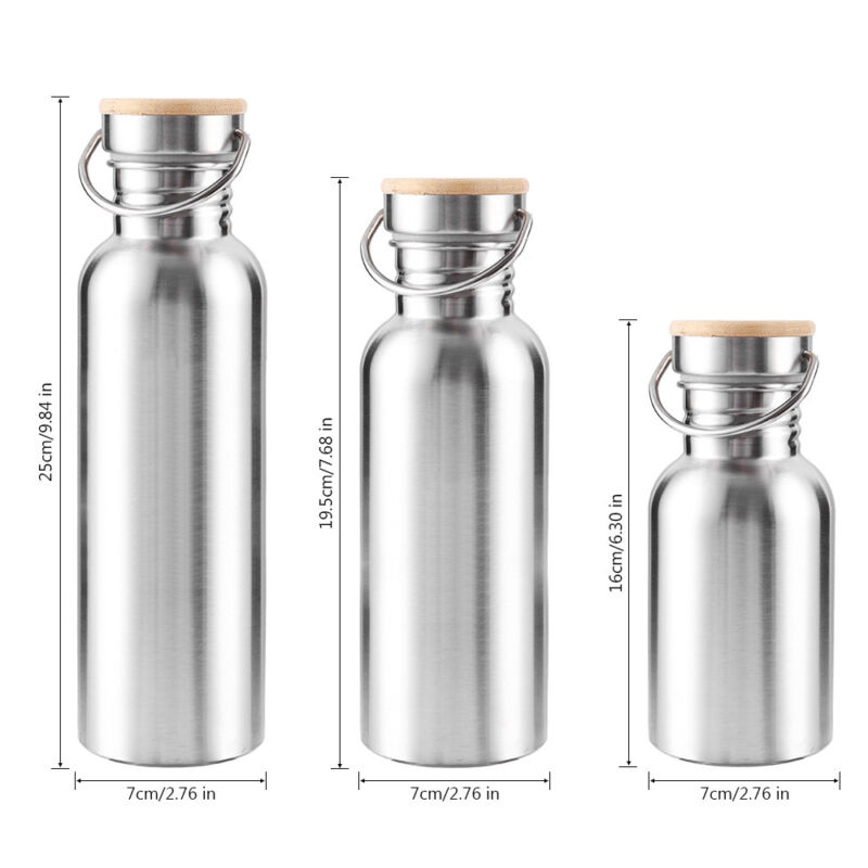 Botella agua aislada al vacío de acero inoxidable Frasco Deportes termales frío 2