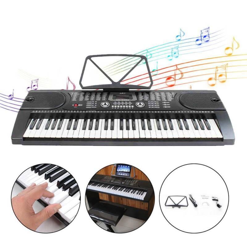 61 Tasten Keyboard E-Piano Lern Klavier 255 Sounds & Rhythmen MP3 3