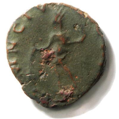 Bronze Coin of Roman Emperor Tetricus II (273-274 AD). Antoninianus in Net Very