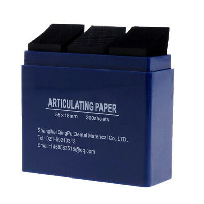 1*Dental Bausch Articulating Paper Double Sided Blue 300 Strips 200 Micron CY2 3