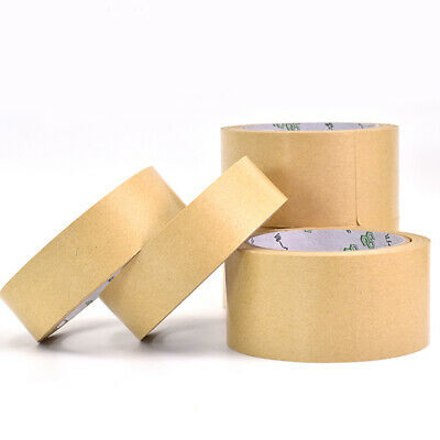 Brown Self Adhesive Backing Tape Crafts Kraft Picture Framing Canvas 25-50mm 7