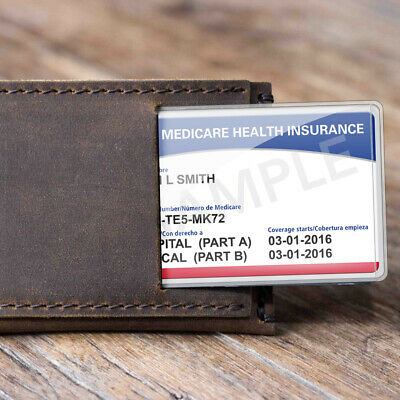 New Medicare Card Holder Clear Soft Waterproof Credit Business Protector Sleeves 7