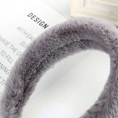 Women's Plush Wide Headband Hairband Soft Faux Fur Hair Band Hoop Accessories 5