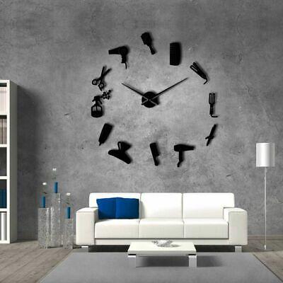 Hair Salon Big Time Clock Wall Fashion Hairdresser Decor Defined Barber Shop 8