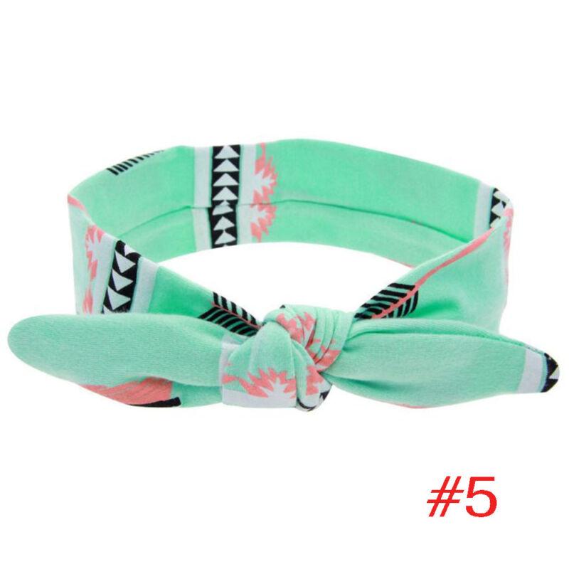 1PC Baby Girl Child Toddler Infant Rabbit Ear Feather Arrow Cotton Headband E 4