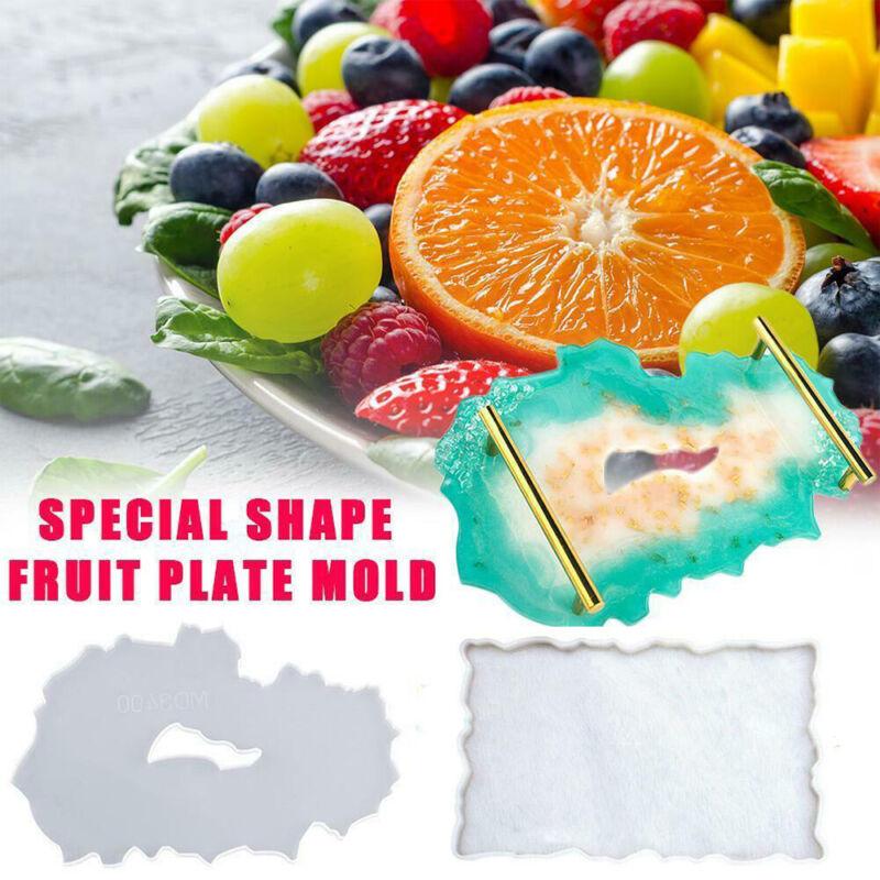 Large Silicone Tray Artist Mold Irregular Coasters Resin Art DIY Tray Mould SET