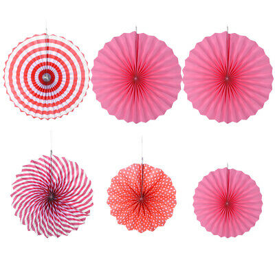 6x Paper Fan Flowers Wedding Baby Birthday Party Garland Tissue Paper Decoration 3