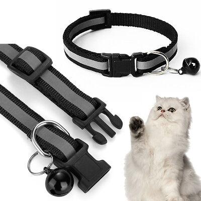 Pet Cat Dog Reflective Collar Flashing Light Up Nylon Night  Collars NEW 7