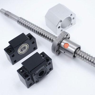 250-1000mm Antibacklash SFU1605 Rolled Ballscrew Ballnut BK/BF12+End Support Kit 4