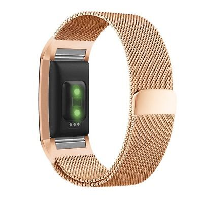 For Fitbit Charge 2 Watch Strap Wrist Band Milanese Stainless Steel Classic UK 10