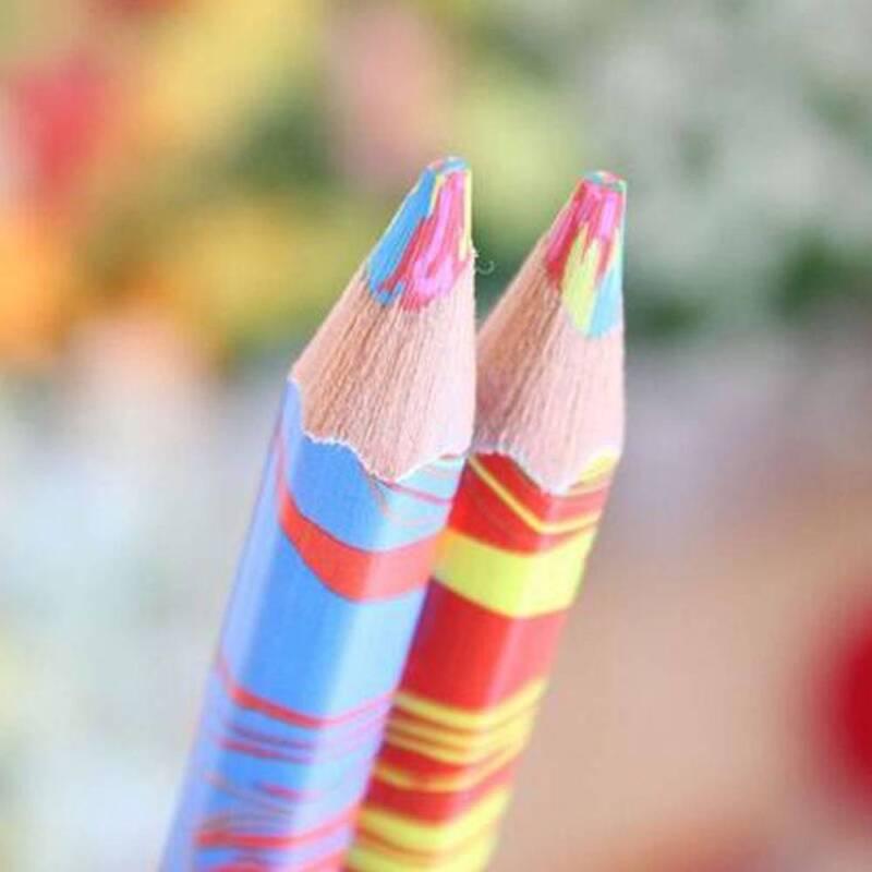 Mixed Colors Rainbow Pencil Art Drawing Colored Pencils Children Graffiti - 8