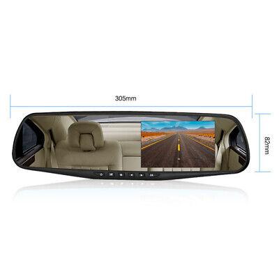 4.3'' HD Dual Lens Car DVR Dash Cam Front and Rear Mirror Camera Video Recorder 4