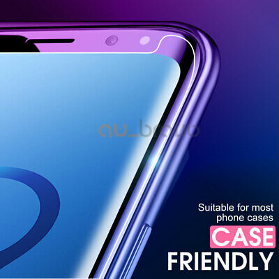 6D Samsung Galaxy S9 S8 Plus Note 9 8 Full Cover Tempered Glass Screen Protector 2