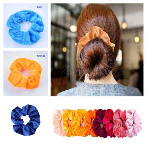 Set of 20 Lady Velvet Hair Scrunchies Elastic Scrunchy Bobble Ponytail Holder G 4