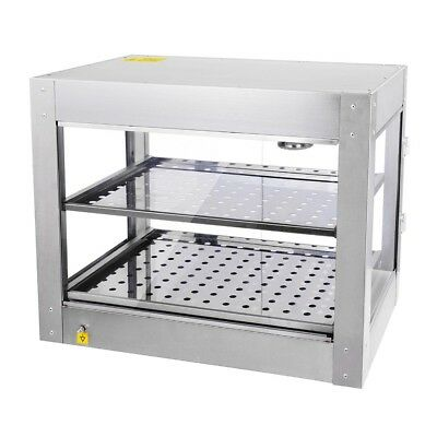 Commercial Food Warmer - Stainless Steel Pizza Pie Hot Display Showcase Cabinet 4