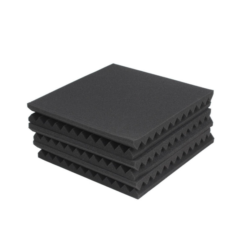 New 6PCS Acoustic Panels Tiles Studio Sound Proofing Insulation Closed Cell Foam 2