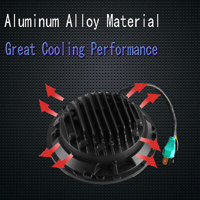 "Pair 7"" INCH LED Headlights Halo Angle Eye For Jeep Wrangler TJ CJ JK LJ 97-18 4"
