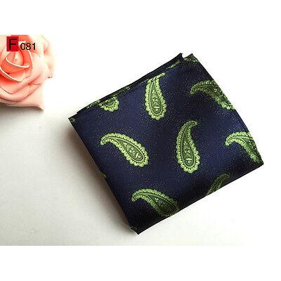 Men Classic Silk Paisley Tie Jacquard Woven Necktie Pocket Square Handkerchief 12