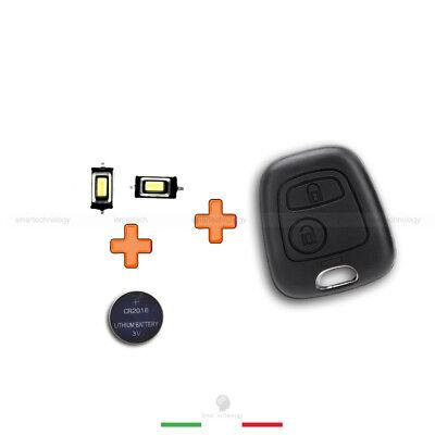 Cover Guscio Chiave Telecomando Toyota Aygo 2 Tasti + Pulsanti+ Batteria Cr2016 5