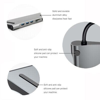 USB Type C 3.1 Docking Station HUB VGA HDMI Video Converter Giga Lan Card Reader 9