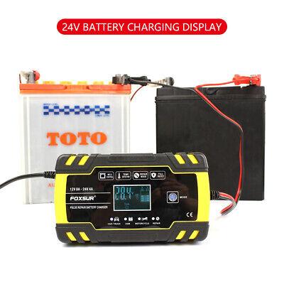 8 Amp Intelligent Car Battery Charger Pulse Repair Starter 12V/24V AGM/GEL UK 9