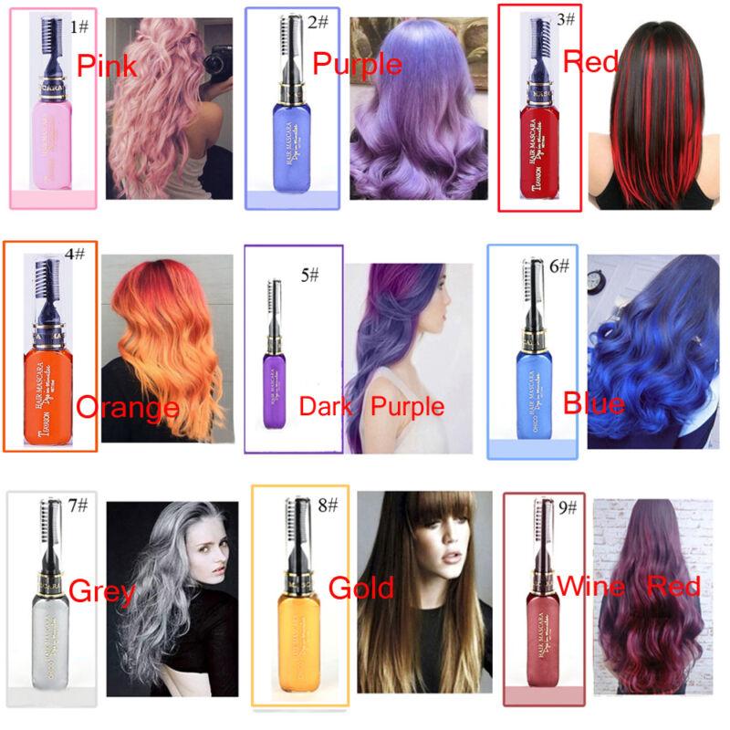 Temporary Color Hair Dye Cream Mascara Hair Chalk Non Toxic Hair Dye Salon Diy