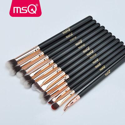 AU 12Pcs Eyeshadow Makeup Brush Set Blending Shader Eyeliner Cosmetics Brush MSQ 2