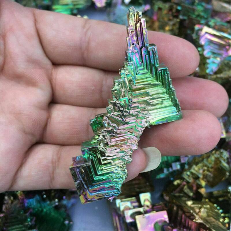 Top Natural Quartz Crystal Rainbow Titanium Cluster VUG Mineral Specimen Healing 5