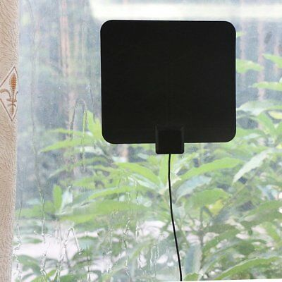 Super Thin Indoor Digital HD TV HDTV Antenna FM/VHF/UHF FREE TV Signals 50 Miles 6