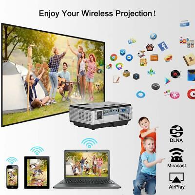 HD Portable Android Mini Wifi Bluetooth Projector LED Home Cinema Kodi HDMI USB 3