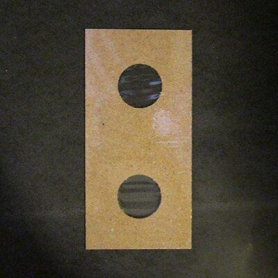 (200) Penny Size 2x2 Mylar Cardboard Coin Flip for Storage | 1 Cent Paper Holder 3